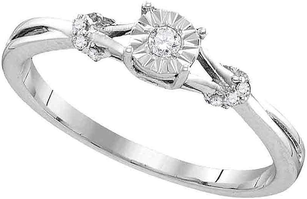Sterling Silver Round Diamond Bridal Engagemen unisex Wedding Solitaire Finally resale start