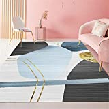 Alfombra Gaming Suelo Negro Alfombra bebé Color cálido luz de Lujo decoración de Interiores Sala de Estar Dormitorio Alfombra para Correr alfombras Bebe 40X60CM