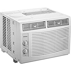 Removable and washable air filter for convenient maintenance 5,000 BTU Window Air Conditioner 5.9-ft. LCDI power cord with 3-prong grounded plug uses 115V electrical outlet Mechanical rotary controls with 2 fan speeds (low and high)