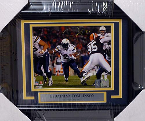Authentic Autographed LaDainian Tomlinson Framed 8x10 Photo San Diego Chargers LT Holo Stock #160839