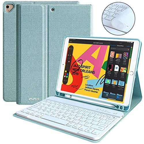 Keyboard Case 10.2 inch for iPad 7th Generation 10.2 2019 iPad 7th Gen, Auto Sleep/Wake Detachable Wireless Bluetooth Keyboard Built-in Pencil Holder