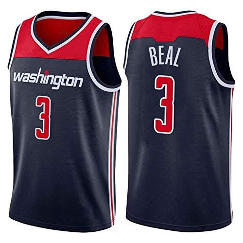 DXG NBA Washington Wizards 3# Bradley Beal Camiseta de Baloncesto Uniforme Bordados Traje Chaleco Deportivo sin Mangas de Secado Rápido Transpirable,Azul,XL