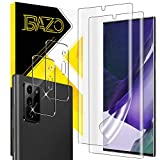 [2+2 Pack] BAZO Screen Protector Compatible for Samsung Galaxy Note 20 Ultra (6.9 inch) 5G / 4G + 2 Pack Tempered Glass Camera Lens Protector - Anti-Scratch - HD Clear - Cases Friendly - Soft TPU Film