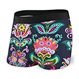 LREFON Solidaria Garden Flowers Lotus Men 's Youth Classic Fit Stretch Knit Boxer Briefs Cooling Ultra-Light Open Fly Underwear Gift