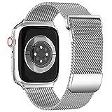 ToouYoor Cinturino Compatibile per Apple Watch Cinturino 38mm 40mm 42mm 44mm, Cinturini in Acciaio Inossidabile a Maglia Milanese...