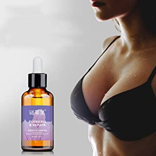 Wishwin Women Chest Care Breast Enhancement Essential Oil Breast Massage Oil Papaya Bust Enlarging and Lifting Breast Serum Organic Personal Herbal Oil