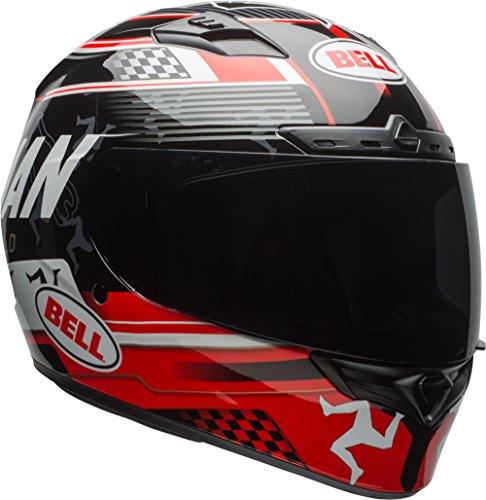 Bell Isle Of Man Adult Qualifier DLX Street Motorcycle Helmet - Black/Red/X-Large