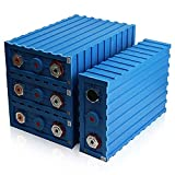HOLPPO Lifepo4 Battery Cells 12V 200ah Batería De Litio, Batería Recargable De Gran Capacidad, con Pieza De Conexión para Aplicaciones Solares Y Fuera De La Red De RV