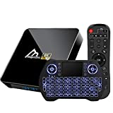 Android TV Box 10.0 4GB RAM 32GB ROM Amlogic S905X3 Smart TV Box Set Top Box with Backlit Wireless Keyboard USB 3.0 Ultra HD 4K 8K HDR Dual Band WiFi 2.4GHz 5.8GHz BT 4.1 TV Box