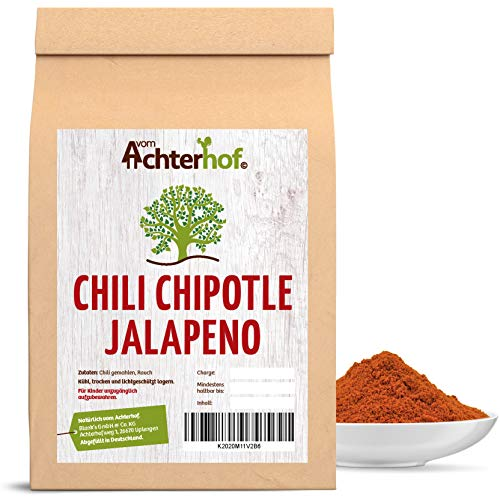 100 g Jalapeno Chili gemahlen Chipotle Chilipulver fruchtig scharf leicht rauchiges Aroma für Salsa Chili Con Carne vom-Achterhof