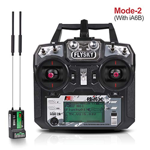 Flysky FS-i6X Sender 2.4GHz 10CH AFHDS 2A RC Transmitter TX Mit iA6B Empfänger for FPV Racing RC Drone Quadcopter by LITEBEE (Modus-2 Left Hand Throttle)