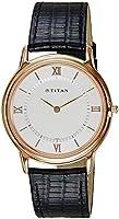 Titan Men's Orion Analog Watch 1488WL01 White