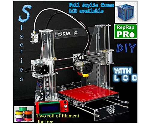 Reprap Prusa i3 LCD Acquired 3D Printer Kit W/Two Rolls Filament for Free