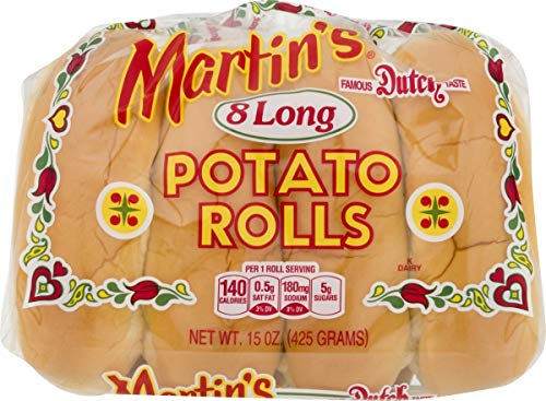 Martin's Famous Pastry Potato Long Rolls- 15 oz. Bag (2 Bags)