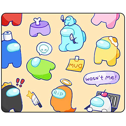 A_mong Us Mouse Pad - Pink Cute Multicoloured A_mong Us Mouse Pad Waterproof Rubber Anti-Slip Gaming MousePads for Girls Kids Teens11.81 x 9.84 x 0.12 Inch
