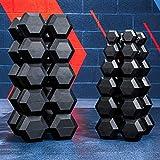 FORZA METIS Mancuernas Hexagonales | Par de Pesas | Material Fitness y Musculación [2,5KG-30KG] (20kg)