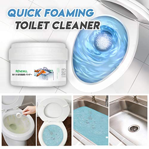Fast Foaming Cleaner,2019 Quick Foaming Toilet Cleaner for Toilet Washing Machine Sink Floor Tile (Free, White)