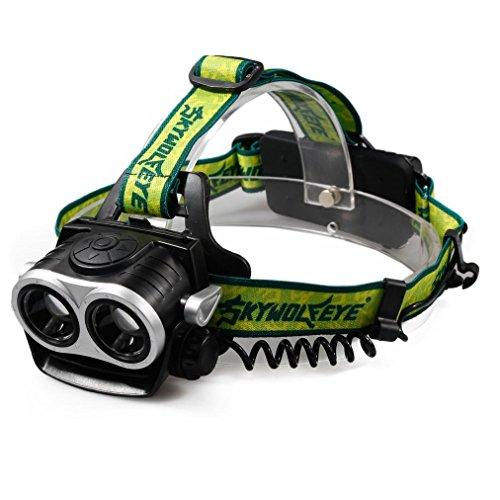 FAMILIZO 8000LM 2X XM-L T6 LED Recargable 18650 Linterna Del Faro Del Frente Del USB Linterna Ligera Principal Linternas Frontales para camping / pesca / ciclismo / carrera / caza