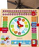 Jaques of London Giocattoli in Legno Il Mio Primo Calendario per Bambini con Orologio per l'apprendimento - Orologio per Bambini con Calendario - Giocattoli Montessori Premium per 2 3 4 Anni dal 1795
