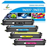 True Image Compatible Toner Cartridge Replacement for Brother TN227 TN-227 TN227BK TN223 TN-223BK HL-L3210CW HL-L3290CDW HL-L3270CDW HL-L3230CDW MFC-L3710CW MFC-L3750CDW MFC-L3770CDW Toner (4-Pack)