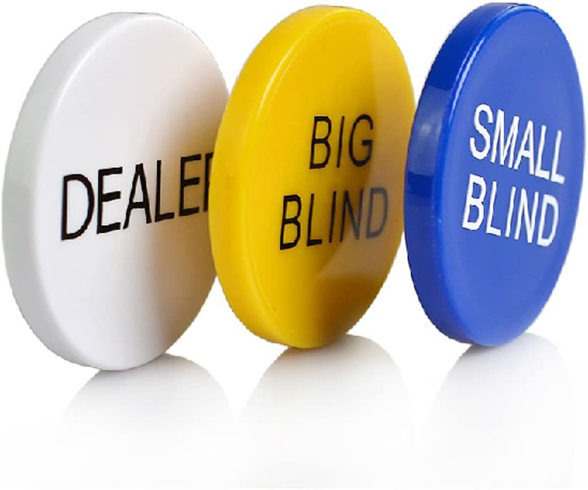 Smartdealspro 3pcs Small Miami Mall New item Blind Big and Dealer Poker Butto