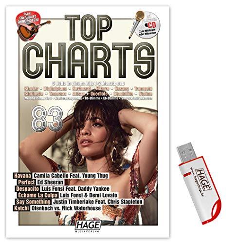Top Charts 83 (mit CD + Midifiles, USB-Stick): Die aktuellsten Hits der erfolgreichsten Stars und das Beste aus den Charts!