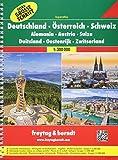 Freytag Berndt Autoatlanten, Deutschland - Österreich - Schweiz, Extra große Schrift, Spiralbindung - Maßstab 1:300.000: Wegenatlas 1:300 000