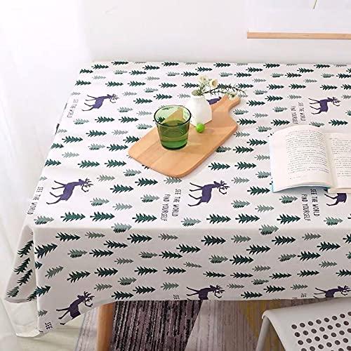 sans_marque Mantel lavable que se puede utilizar para decorar la mesa de la cocina y el buffet de la encimera, y se puede limpiar el mantel100 x 150 cm