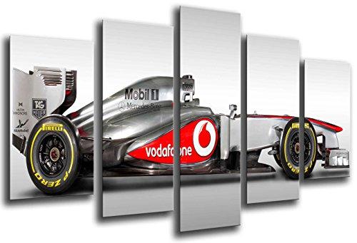 Cuadros Camara Poster Fotográfico Coche Formula 1, Mercedes F1, Hamilton, Rosberg Tamaño total: 165 x 62 cm XXL, Multicolor