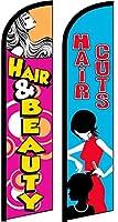 Hair & Beauty ヘアカット キング ウィンドレス フラッグ - 2個パック (ハードウェアは含まれません)