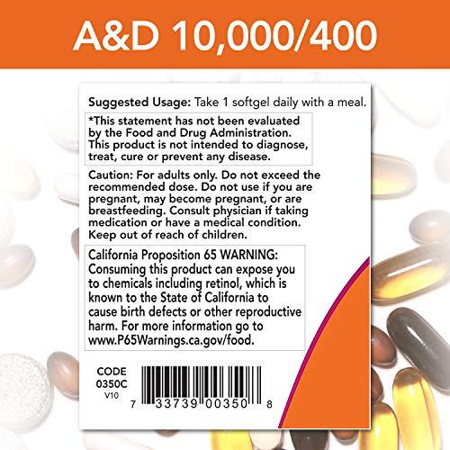 ビタミンA&D(10,000/400)100ソフトカプセル(海外直送品)