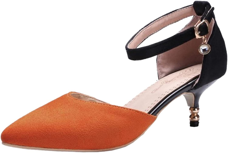 FizaiZifai Women Kitten Heel Sandals D'Orsay