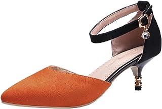JOJONUNU Women Mid Heel Summer Sandals