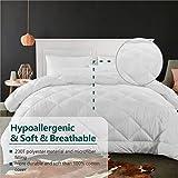 "Cozynight Soft King Size Comforter Duvet Insert-Lightweight Down Alternative Comforter -Fluffy & Hypoallergenic & Breathable & Machine Washable Diamond Stitching(King,106""X92"" )"