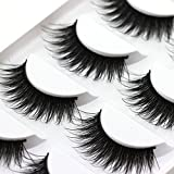 Faux 3D Eyelashes Dramatic Makeup Thick Long Multilayer Fluffy Hand-made False Eyelashes Pack of 5 Pairs (5 Pairs)