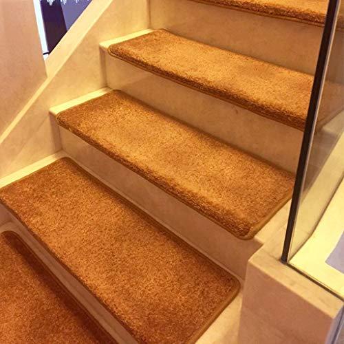 ZEQUAN Pisadas de escaleras, alfombras Antideslizantes, Forro de Goma Antideslizantes, Especialmente diseñados para Pasos de Madera Interior (marrón Puro, 65 cm x 24 cm)
