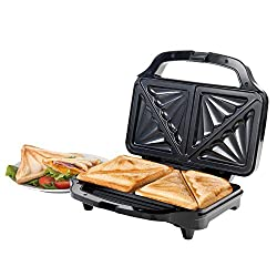 Prepare fantastically full toasties up to 60% bigger with all your favourite ingredients using this Salter deep fill sandwich toaster. The cool touch handle enables you to safely check the sandwiches during cooking, and the non-slip feet provide safe...
