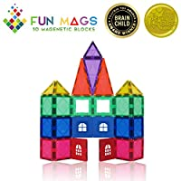 Fun Mags Magnetic Blocks 36-Piece Set 3D Magnetic Building Blocks, STEM Educational Magna Magnetic Tiles Magnet Toys for Kids, Toddlers