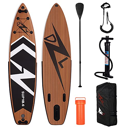 DZLONG Inflatable SUP Surfboard,Paddle Board Stand Up Paddling Set for...