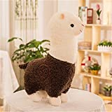 Amyseller Niedlich Alpaka Plüschtier Puppe Schaf Plüsch Kissen Stofftiere (Braun, 28cm)