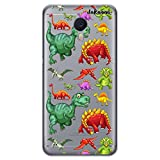 dakanna Funda Compatible con [ Meizu M3 Note ] de Silicona Flexible, Dibujo Diseño [ Patrón de Dinosaurio ], Color [Fondo Transparente] Carcasa Case Cover de Gel TPU para Smartphone