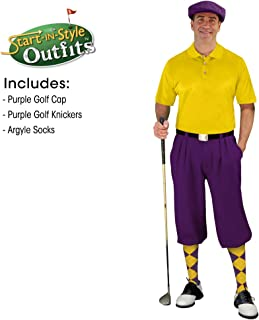 Golf Knickers Mens Start-in-Style Outfit - Purple