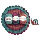 Yanhonin Hilados De Estambre Suave, Colores del Gradiente del Arco Iris DIY Bebé Tejido De Punto Chal De Lana Bufanda Suéter Crochet Hilo Suministros