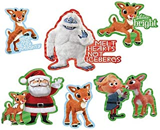Character Arts Rudolph The Red-Nosed Reindeer Large Christmas Cutouts, 16-inch x 20-Inch, Set of 6