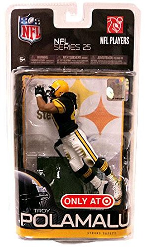 McFarlane Toys NFL Sports Picks Series 25 Exclusive Action Figure Troy Polamalu (Pittsburgh Steelers) Black Jersey Retro Uniform by McFarlane Toys