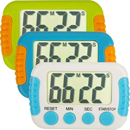 Classroom Or Meeting Timers for Kids and Teacher Digital Kitchen Timer, Count-Up & Count Down for Cooking Baking Sports Games Office Study (3pcs)