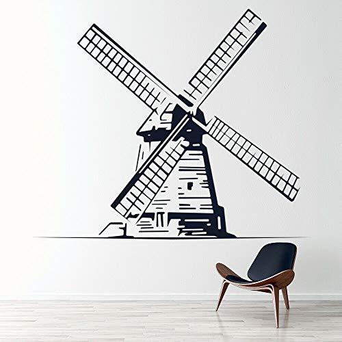 Nederlandse molen muurtattoo creatieve home decor voor kinderen slaapkamer babykamer kwekerij vinyl raamstickers verwijderbare kunst muurschildering