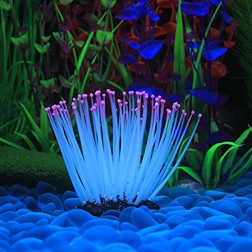 Decdeal Glühende Künstliche Seeanemone für Aquarium Dekoration