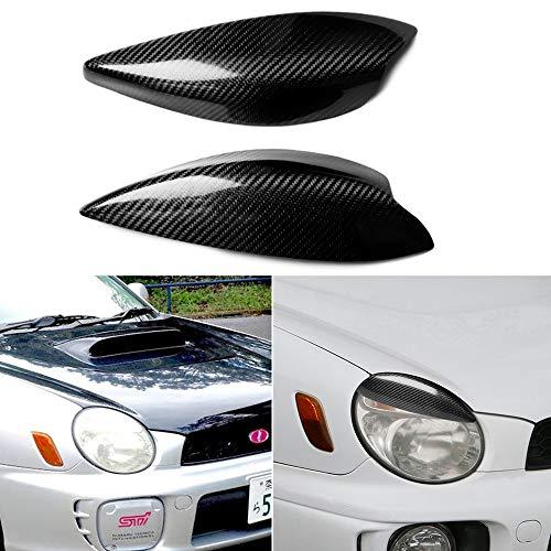 BYWWANG Para Subaru Impreza WRX STI 2002-2003, Pegatinas de la Cubierta de los Faros del Coche párpados Cejas Trim