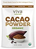 Viva Naturals #1 Best Selling Certified Organic Cacao Powder from Superior Criollo Beans, 1 LB Bag